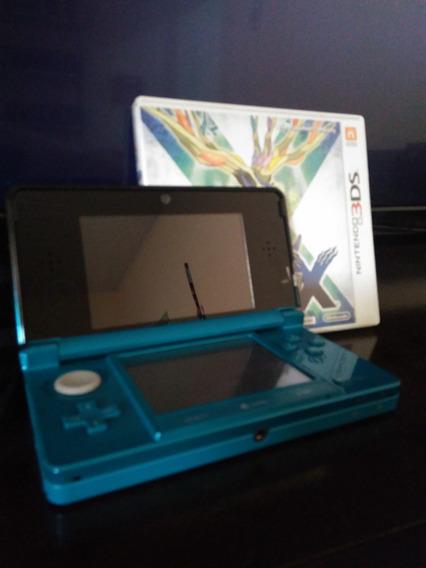 Nintendo 3ds Aqua Blue (pokémon X De Brinde)