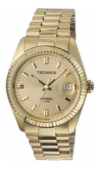 Relógio Technos Masculino Riviera 2115ef/4x Dourado