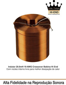 Indutor 20.0 Mh-19 Awg Divisor Frequencia Hi End Real Audyo