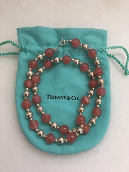 Colar Tiffany & Co Autêntico Rodocrisitas E Prata 925, Raro!