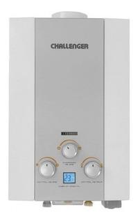 Calentador De Paso Challenger 8lts Tiro Natural Gris Tk708