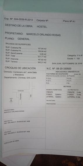 Construcción De Hotel 80% Obra Gruesa 350 Cuadrados