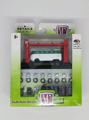 M2 Model Kit 1959 Vw Microbus Deluxe Usa Para Armar 1:64