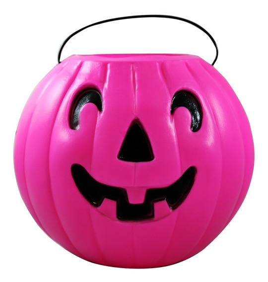 Calabaza Rosa Para Halloween Grande