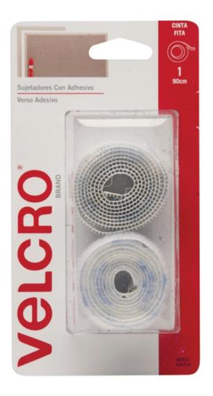 Abrojo Velcro Autoadhesivo Uso General Rollo De 90 X 1,9 Cm
