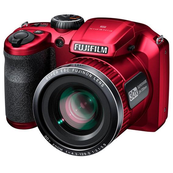 Câmera Fotografica Fujifilm Finepix S4800 Vermelha Zoom 30x