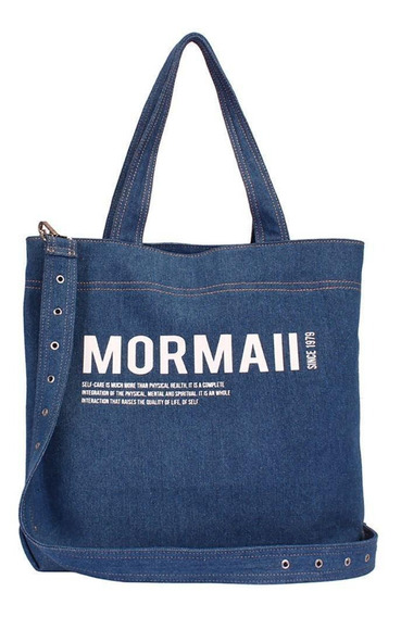 Bolsa Shopping Bag Mormaii Jeans Com Estampa - 230041