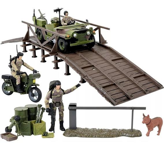 Gi Joe Jeep Humvee Headquarters Vehiculo Militar Playset