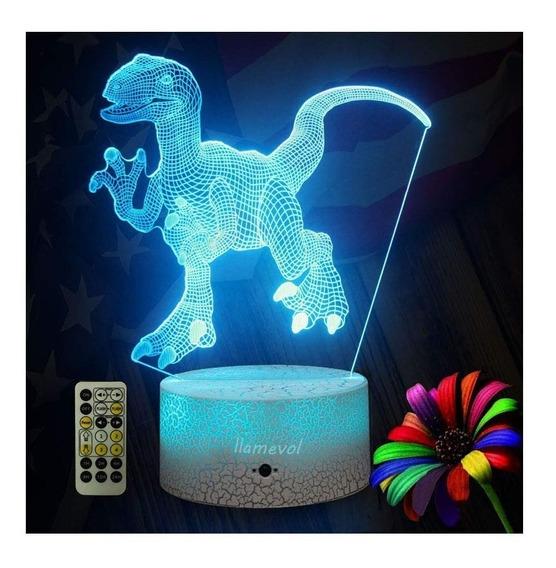 Jurassic World Dinosaurio Lampara Raptor 7 Colores