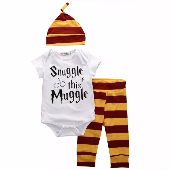 Harry Potter Roupinha De Bebe Kit Com Body, Calca E Touca