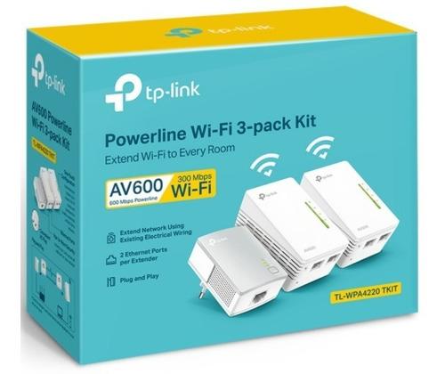 Extensor Powerline Tkit Tl-wpa4220 Tp-link  Av600 3pack