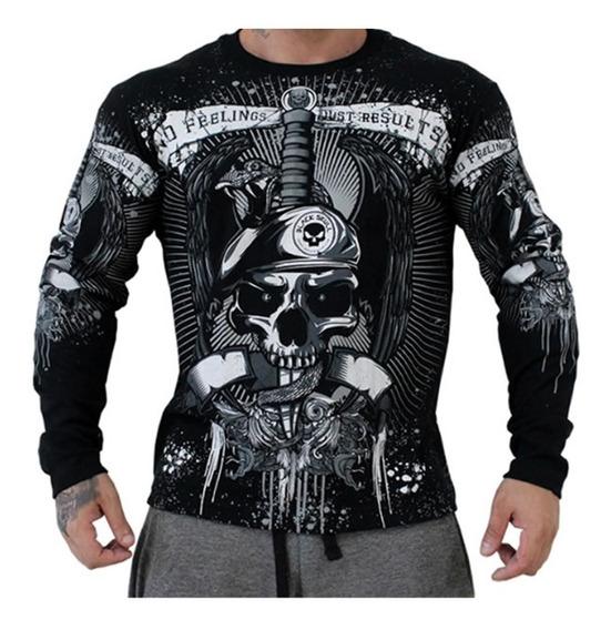 Camiseta Faca Na Caveira Com Cobra - Black Skull - Original