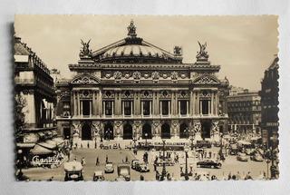 Antigua Foto Postal Teatro Opera De Paris Francia Año 1957