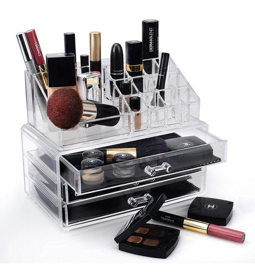 Organizador Para Maquillaje De Lujo Tipo Cristal Acrilico