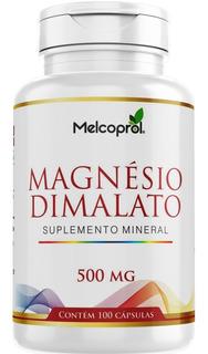 Magnesio Dimalato 100 Cápsulas Melcoprol Preço Hoje!