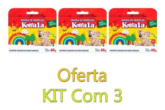3 Massinhas De Modelar Koala 6 Cores Oferta