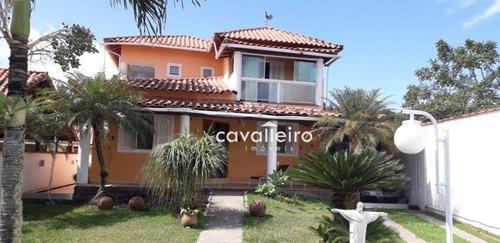 Casa À Venda, 212 M² Por R$ 700.000,00 - Jardim Interlagos (ponta Negra) - Maricá/rj - Ca4806