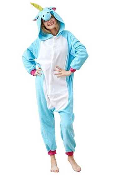 Pijama Unicornio Kigurumi Unicornio Pijama Mameluco Unisex