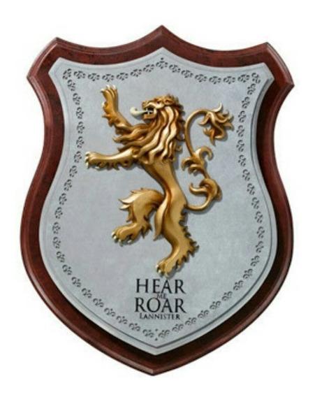 Escudo Decorativo Game Of Thrones - Lannister