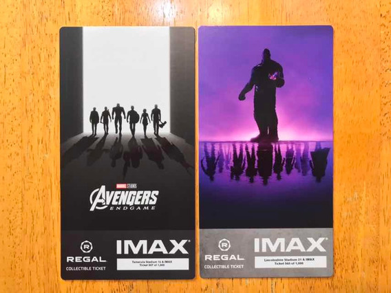Imax Marvel Avengers Endgame Boletos Conmemorativos Exclusiv