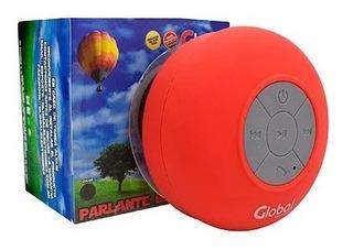 Parlante Bluetooth A Prueba De Agua Global Sbl01 Color Rojo