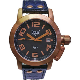 Relógio Everlast - E128 - Leather Strap - Black Dial