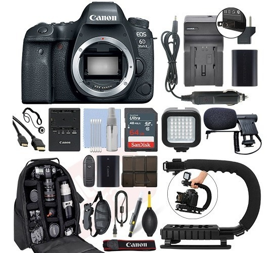 Kit Canon Eos 6d Mark Ii 26.2mp Digital Slr Camera Body+64gb