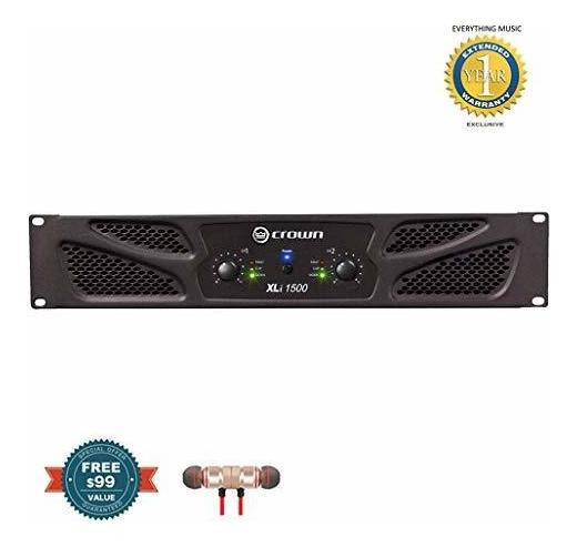Amplificador Crown Xli1500 2 Canales 450w At 4¿ Power Incl ®