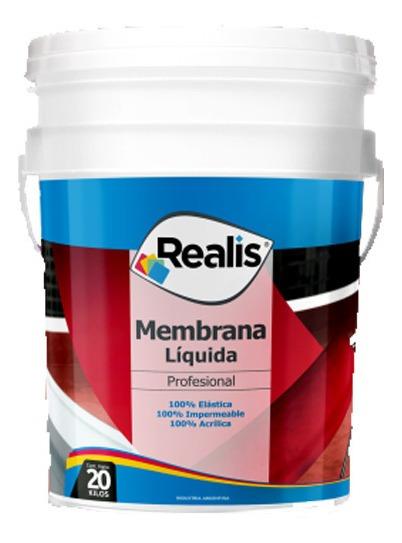 Membrana Liquida Impermeabilizante Realis 20 Kg Color Rojo