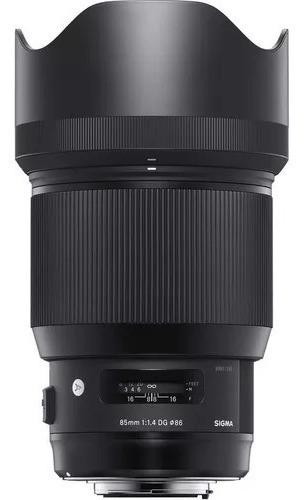Lente Sigma 85mm F/1.4 Dg Hsm Autofoco Série Art Canon