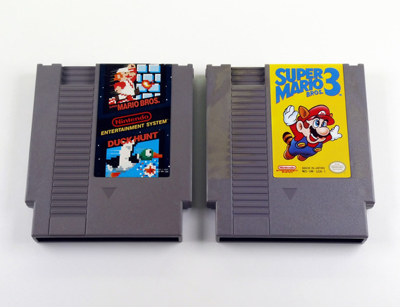 Lote 2 Jogos Originais Nintendo Nes 019