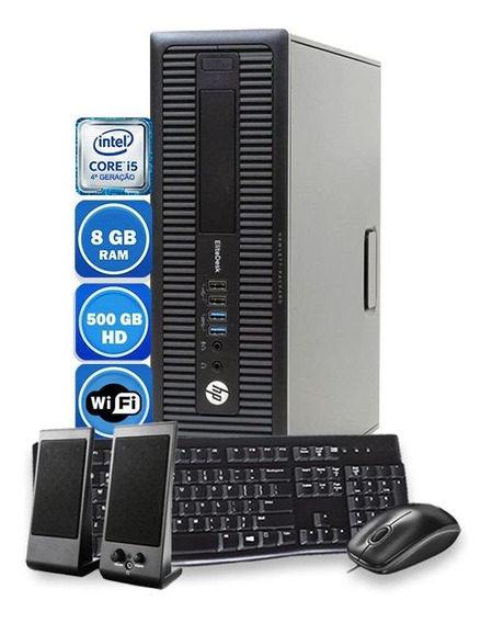 Pc Hp Intel Core I5 4°geração 8gb Hd 500gb Teclado Mouse Usb