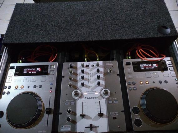 Kit 350 Pioneer Mixer 250 Pioneer E Case Da Somcase - Cabos