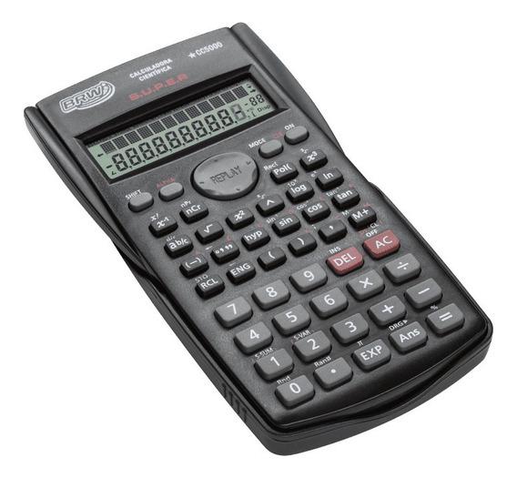 Calculadora Cientifica 10+2 Digitos Cc5000 Preta Brw