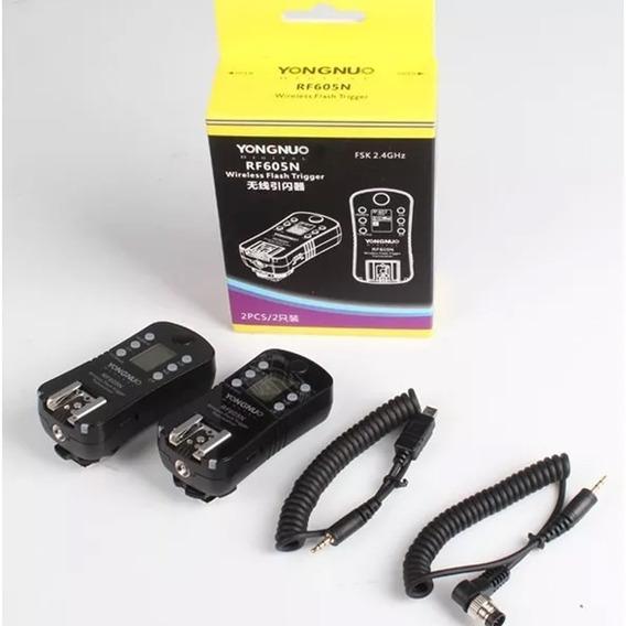 Radio Flash Yongnuo Rf-605n Para Nikon Par Envio Imediato