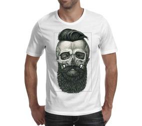 Camiseta Caveira 2 - Branca