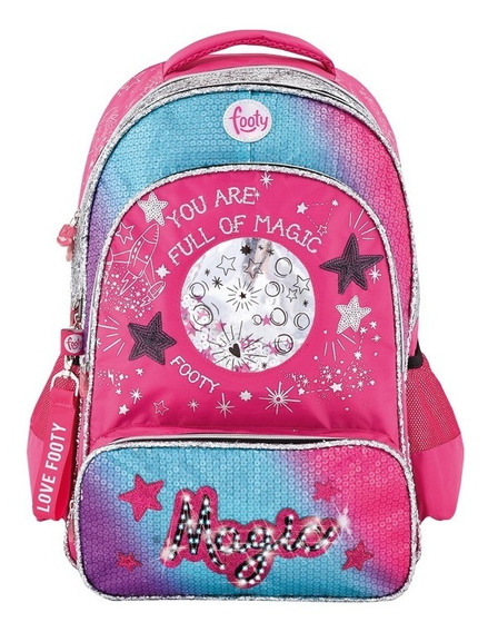 Mochila Espalda 18p Full Of Magic Con Luz Footy F1203