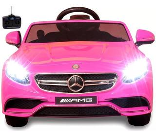 Carro Eléctrico Mercedes Benz S63 Amg Con Control Remoto Mp3