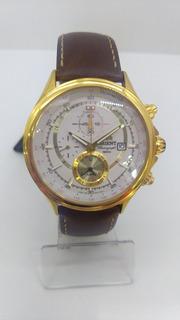 Reloj Orient Cuero Marron Y Metal. Crono.local A La Calle