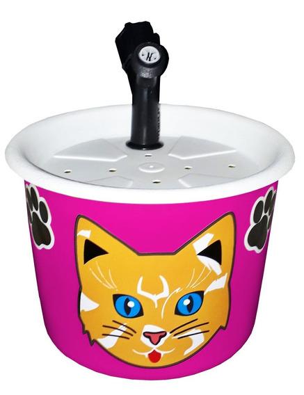 Bebedouro Fonte Para Gatos 1,5l Rosa