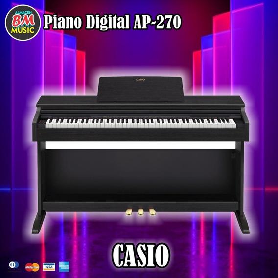 Piano Celviano 88 Teclas Casio Ap270 Con Pedales Y Asiento