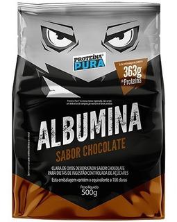 Promoção 06 Albumina 500g - Sabor Chocolate - Proteína Pura