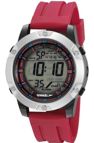 Relógio Masculino Digital Vermelho E Preto Speedo Original