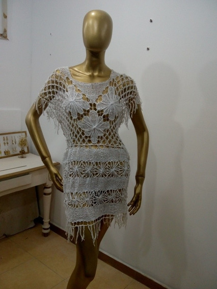Vestido Playero De Hilo
