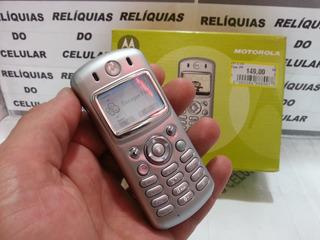 Celular Motorola C333 Original D Fabrica Led Branca Reliquia