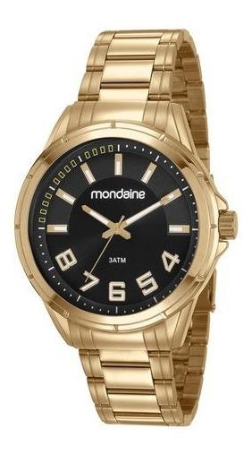 Relógio Mondaine Masculino Dourado 83451gpmvde3