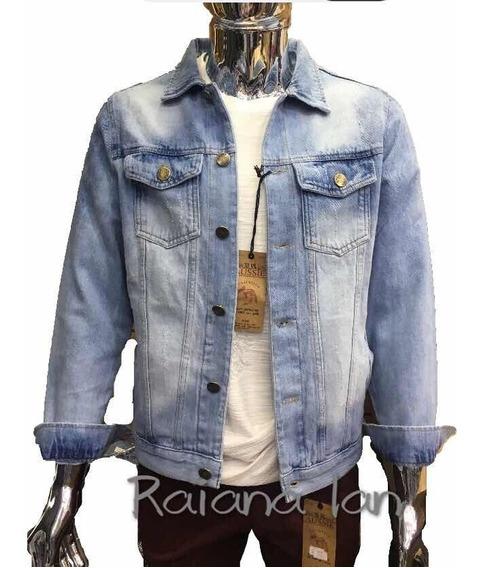 Jaqueta Jeans Masculina Casaco Premium Rascada Frete Grátis