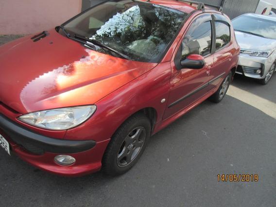 Peugeot 206 1.4 8v 4 Portas Vermelho 2008