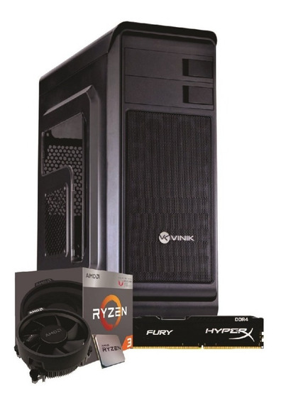 Pc Hunter Ryzen 3 2200g A320m-hd 4gb Fury Ssd Kg120gb Bc350