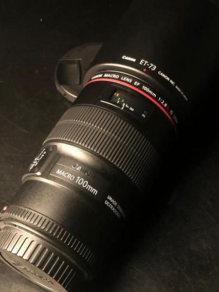 Lente Canon 100mm Macro 2.8